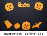 paper halloween decorations on... | Shutterstock . vector #1175454181