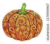 colored decorative pumpkin.... | Shutterstock .eps vector #1175454967