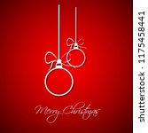 modern simple white christmas...   Shutterstock .eps vector #1175458441