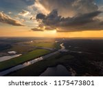 Aerial View Of Dark Cloud With...