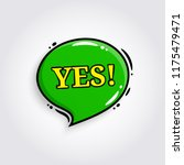 yes. comic speech bubble ... | Shutterstock .eps vector #1175479471