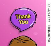 thank you text inside speech... | Shutterstock .eps vector #1175479474
