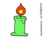 cartoon doodle lit candle | Shutterstock .eps vector #1175480374