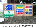 safety starts here and health... | Shutterstock . vector #1175487091