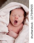 Newborn Baby Is Yawning After...