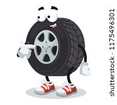 cartoon car wheel mascot... | Shutterstock .eps vector #1175496301