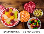 colorful chocolate candies ... | Shutterstock . vector #1175498491