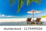 maldives islands with blue sea... | Shutterstock . vector #1175499334