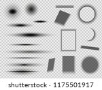 set of round and square shadow... | Shutterstock .eps vector #1175501917