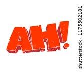 flat color illustration of ah ... | Shutterstock .eps vector #1175502181