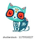 cat decor. day of the dead... | Shutterstock .eps vector #1175510227