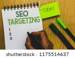 word writing text seo targeting.... | Shutterstock . vector #1175514637