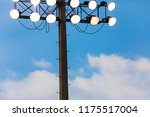 sports stadium floodlights | Shutterstock . vector #1175517004