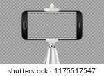 selfie stick with mobile or... | Shutterstock .eps vector #1175517547