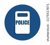 police shield icon in badge...