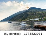 stromboli volcano seen from the ... | Shutterstock . vector #1175523091