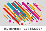 creative happy new year 2018... | Shutterstock .eps vector #1175523397