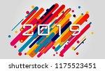 creative happy new year 2018... | Shutterstock .eps vector #1175523451