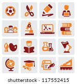 vector color education icons... | Shutterstock .eps vector #117552415
