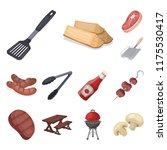 barbecue and equipment cartoon... | Shutterstock .eps vector #1175530417