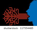 silhouette man with arrow   Shutterstock .eps vector #117554485