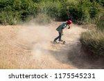 mountainboard rider during... | Shutterstock . vector #1175545231