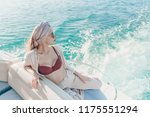 slender luxury young woman... | Shutterstock . vector #1175551294