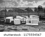 several discarded fly tipped... | Shutterstock . vector #1175554567