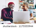 african american couple browse... | Shutterstock . vector #1175555944