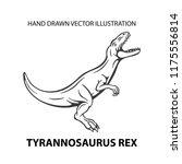 dinosaur. angry tyrannosaurus... | Shutterstock .eps vector #1175556814