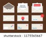newsletter mail envelope set. | Shutterstock .eps vector #1175565667