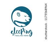 sleeping logo design | Shutterstock .eps vector #1175568964