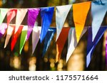 carnival garland with flags ... | Shutterstock . vector #1175571664