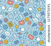 social media symbols seamless... | Shutterstock .eps vector #1175573191