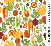 papercut style vegetables... | Shutterstock . vector #1175573254