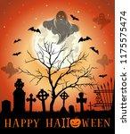 halloween design. halloween... | Shutterstock .eps vector #1175575474