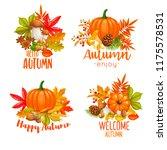 seasonal hello fall  banners... | Shutterstock .eps vector #1175578531