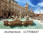 piazza navona  rome. italy | Shutterstock . vector #117558637