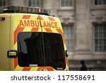 door of the emergency ambulance ... | Shutterstock . vector #117558691