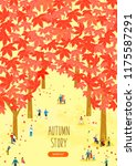 autumn travel illustration | Shutterstock .eps vector #1175587291