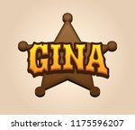gina. popular nick names ... | Shutterstock . vector #1175596207