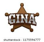 gina. popular nick names ... | Shutterstock . vector #1175596777