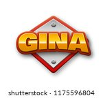 gina. popular nick names ... | Shutterstock . vector #1175596804