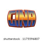 gina. popular nick names ... | Shutterstock . vector #1175596807