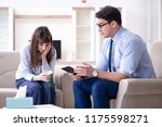 young woman visiting male...   Shutterstock . vector #1175598271