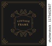 flourishes vintage ornament... | Shutterstock .eps vector #1175602837