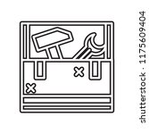 toolbox icon vector isolated on ... | Shutterstock .eps vector #1175609404