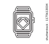 smartwatch icon vector isolated ... | Shutterstock .eps vector #1175613034