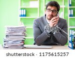 Employee Chained To His Desk...