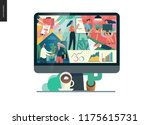 about company  office life ... | Shutterstock .eps vector #1175615731